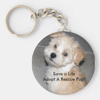 Save a LifeAdopt A Rescue Pup! Key Ring