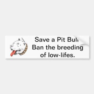 Save a Pit Bull Bumper Sticker