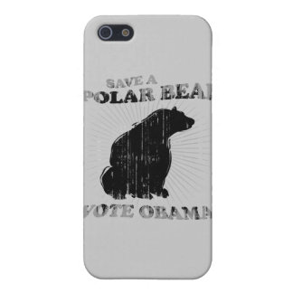SAVE A POLAR BEAR VOTE OBAMA Faded.png Case For iPhone 5