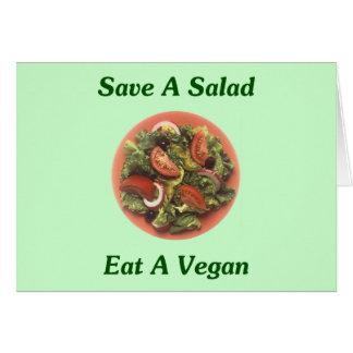 Save A Salad, Eat A Vegan Card
