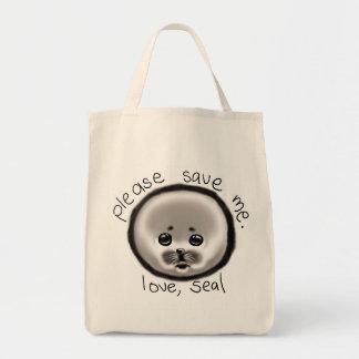 save a seal tote bag