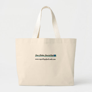 Save a Student...Save the World Canvas Bag