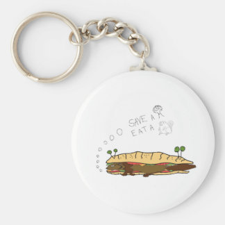 Save a Tree Eat a Beaver Basic Round Button Key Ring