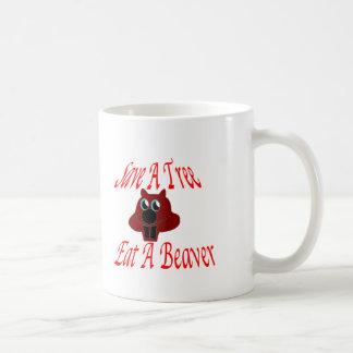 Save a tree Eat  A Beaver Coffee Mug