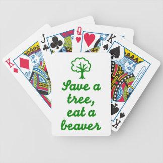 Save a tree eat beaver poker deck