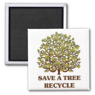 Save a Tree Refrigerator Magnet