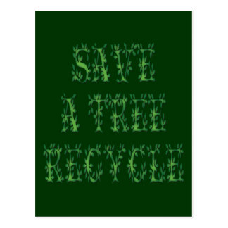 Save a Tree Post Card