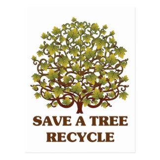 Save a Tree Postcard