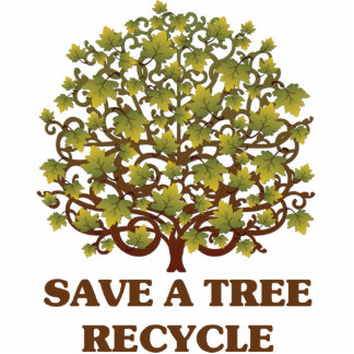 Save A Tree Recycle Acrylic Pin Photo Sculpture
