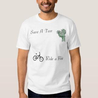 Save A Tree,Ride A Bike Tshirts