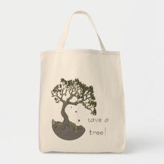 Save a Tree!  Tree Art Shopping Bag