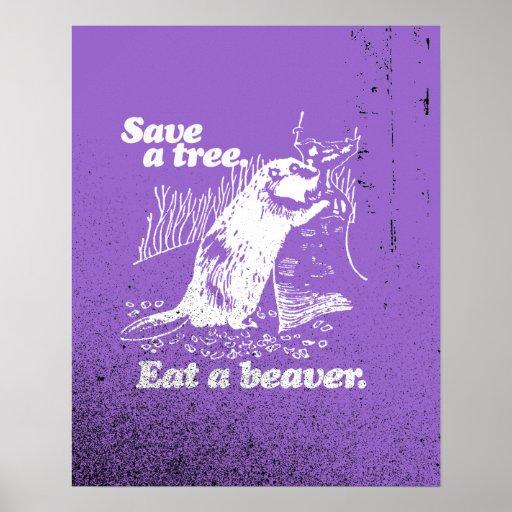 SAVE A TREE - WHITE -.png Print