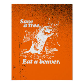 SAVE A TREE - WHITE - png Print