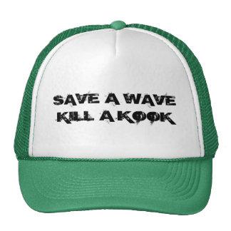 SAVE A WAVE KILL A KOOK MESH HATS