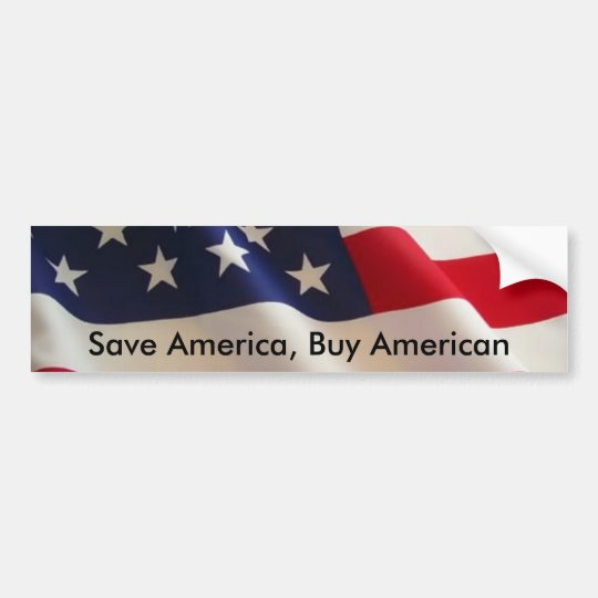 Save America, Buy American Bumper Sticker