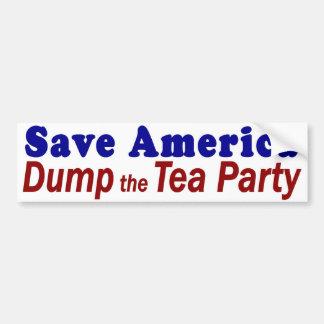 Save America Dump Tea Party Bumper Sticker