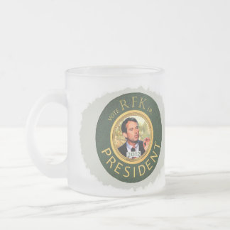 Save America, Elect RFK jr. Frosted Glass Coffee Mug