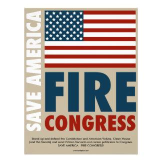 Save America Fire Congress 21.5 Cm X 28 Cm Flyer