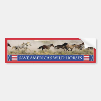 Save America s Wild Horses Bumper Sticker 1