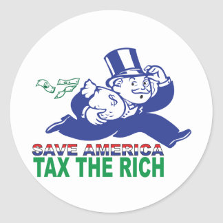 Save America/ Tax the Rich Round Sticker