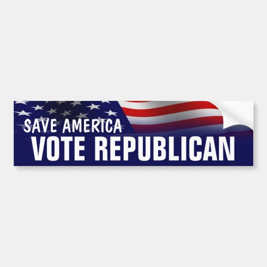 Save America Vote Republican - Romney Ryan 2012 Bumper Sticker