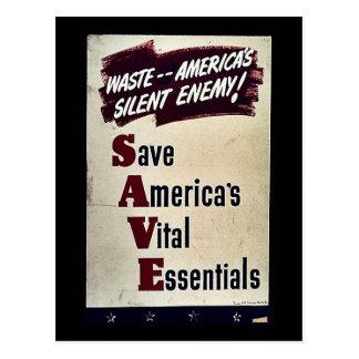 Save America's Vital Essentials Postcard