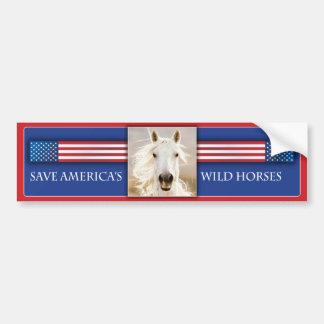 Save America's Wild Horses Bumper Sticker 2