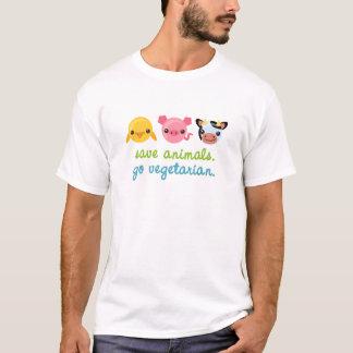 Save Animals Go Vegetarian T-Shirt