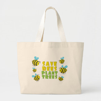 save Bees Plant Trees Canvas Bag