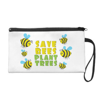 Save Bees Plant Trees Wristlets