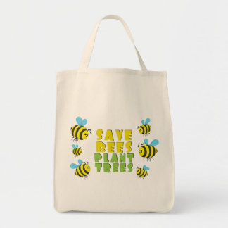 Save Bees Plant Trees Canvas Bags
