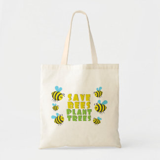 Save Bees Plant Trees Budget Tote Bag