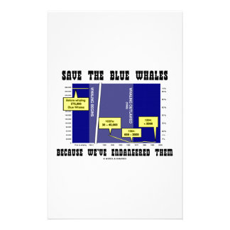 Save Blue Whales Because We've Endangered Them Customized Stationery