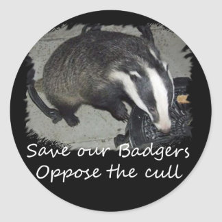 Save British Badgers, oppose the badger cull Classic Round Sticker