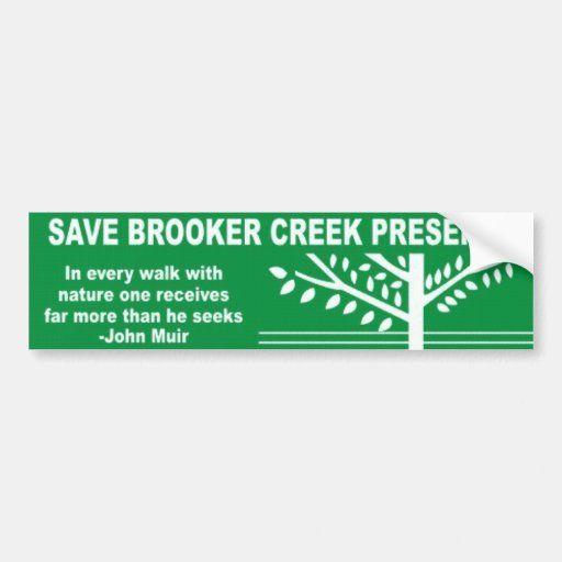 Save Brooker Creek Preserve Bumper Stickers