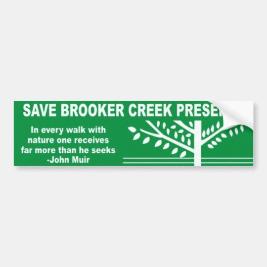 Save Brooker Creek Preserve Bumper Sticker