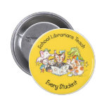 Save California School Libraries - Aliki Yellow 6 Cm Round Badge