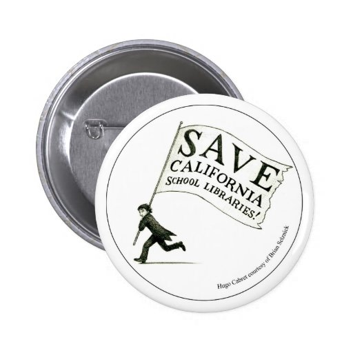 Save California School Libraries - Circle 6 Cm Round Badge