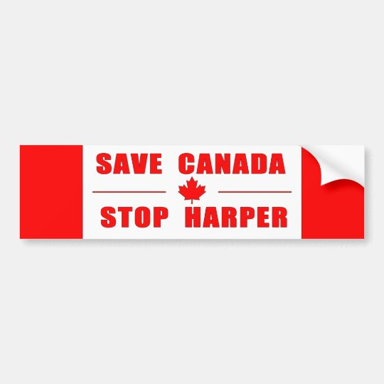 Save Canada - Stop Harper Bumper Sticker