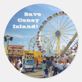 Save Coney Island Stickers Stickers