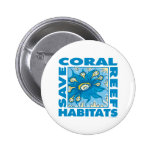 Save Coral Reefs 6 Cm Round Badge