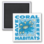 Save Coral Reefs Square Magnet