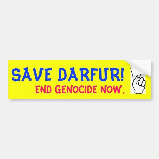 SAVE DARFUR! END GENOCIDE NOW. BUMPER STICKER
