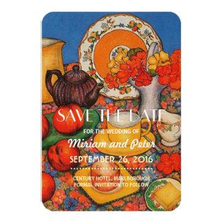 Save Date Nasturtiums 9 Cm X 13 Cm Invitation Card