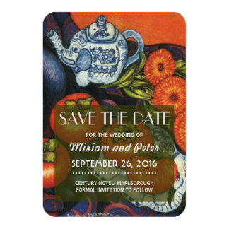 Save Date Thai Elephants 9 Cm X 13 Cm Invitation Card