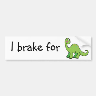 save dinosaurs bumper sticker