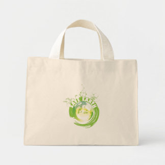 Save Earth apparel, bags, apron and tie. Mini Tote Bag