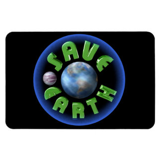 Save Earth by Valxart com Vinyl Magnets