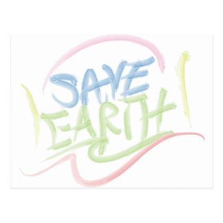 Save Earth - Child s Art - Water Color Post Cards