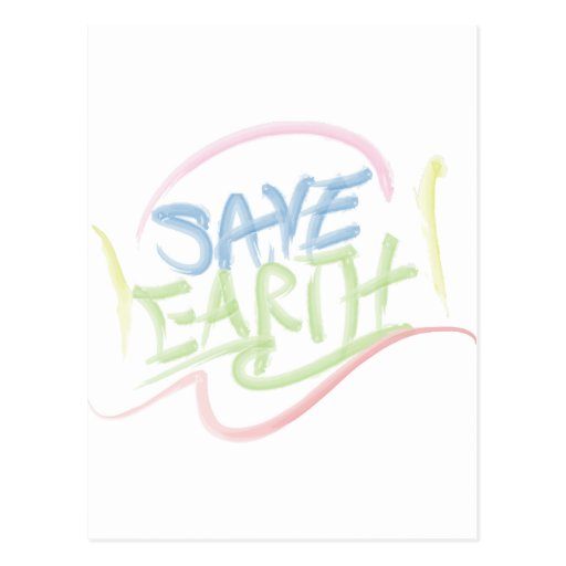 Save Earth! - Child's Art - Water Color Post Cards